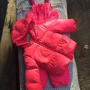 Girls 3T coat and snow pants